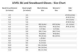 Womens Ski Size Chart 24 Symbolic Snow Stoppers Mittens Size Chart