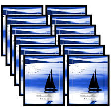 12 pack americanflat 8x10 inch black frames with glass front