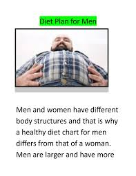 Healthy Diet Chart For Men Diet Plan For Men By 98fithealth Issuu