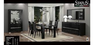 black modern dining room sets. diamond black lacquered modern dining room set sets