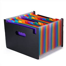 Expanding File Folders 24 Pockets Large Capacity Multicolour