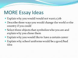 five paragraph essay bing bang bongo thesis statement ppt  more essay ideas explain why you would would not want a job