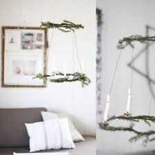 diy natural wreath chandelier for the holidays