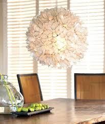 capiz shell chandelier decorative warm white hanging pendant light diy faux