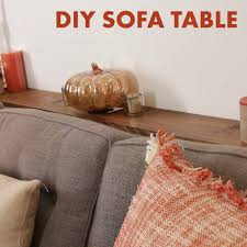 DIY Sofa Table Gives You Somewhere To Place Your Coffee All Created