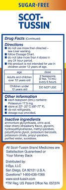 Scot Tussin Original Multi Symptom Cold And Allergy Remedy With Fever Reducer Sugar Free Liquid 4 Oz