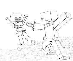 Minecraft Color Pages Printable Coloring Pages Together With