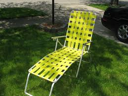 Fold Up Chaise Lounge Vintage Aluminum Webbed Folding Chair Chaise Lounge Retro Lawn