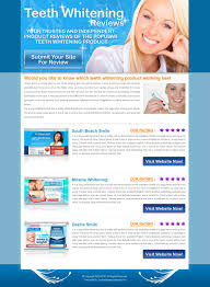 Review Page Design In Html Teeth Whitening Site Review Lander 011 Review Type Landing