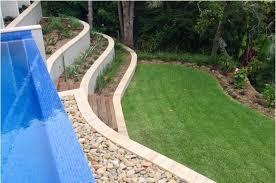 extraordinary terraced retaining wall