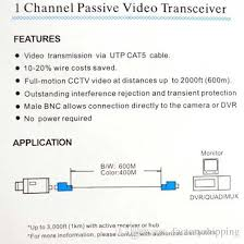 cctv video balun cat diagram cctv image wiring bnc connector whole r factoryshipping sells high quality video on cctv video balun cat5 diagram