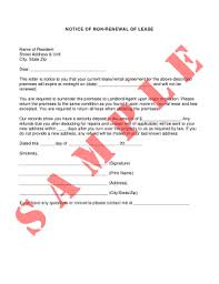 Notice Of Non Renewal For Lease Form Fill Out And Sign