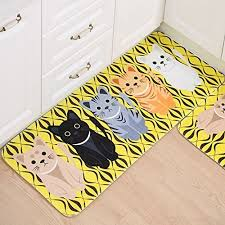 carpet kitchen rugs essort non slip area rugs rubber backing animal pattern flannel mat for kitchen