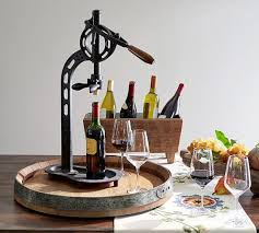 tabletop wine bottle opener vintners standing wine opener pottery barn