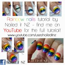 Rainbow Nail Art - With Tutorials!