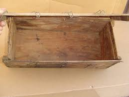 8 of 9 shabby wood box cable bolts flat crate old wire reinforced with lid vintage