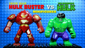 lego iron man hulkbuster vs the incredible hulk knockoff big minifigure youtube bootleg iron man 2 starring