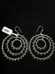 labradorite large silver chandelier earrings