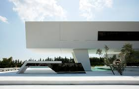 modern architecture. Modern Facade Of An Impressive Ultra House In Athens Architecture