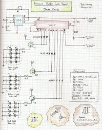 "traffic light project 3 light controller schematic by traffic light controller circuit hopefully this shows up readable i m not sure how to post it a ""zoom"" but if anyone happens to want this in the """