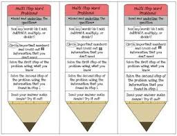 best math word problems ideas word problems rd  this is a fun bookmark to help students remember how to solve multi step word problems