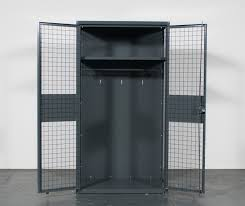 wirecrafters ta 50 military storage locker with double hinged doors open