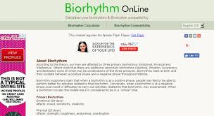 Access Biorhythmonline Com Biorhythm Calculator Free