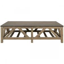 orient express bella antique blue stone coffee table smoke gray pine