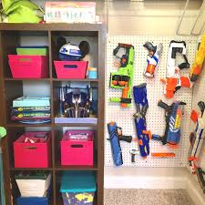 Not keen on the peg board? Make Your Own Easy Diy Nerf Gun Wall