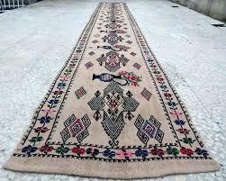 14 runner rug runner rug foot vintage extra long narrow handmade unique tribal hall ft decoration