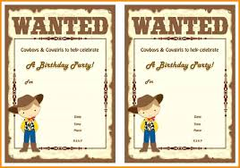 Free Templates For Invitations Birthday Adorable Inspirational Western Birthday Invitations For Cowboy Card Free
