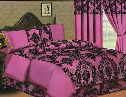 Elegance 4pcs Complete Double Bed Set/ Duvet Cover, Valance Sheet ... & Elegance 4pcs Complete Double Bed Set/ Duvet Cover, Valance Sheet, Pillow  Case, Fuchsia Adamdwight.com