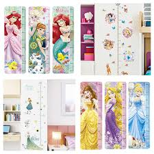 Us 3 15 20 Off Snow White Mermaid Rapunzel Cinderalle Belle Princess Growth Chart Wall Stickers Home Decor Kids Height Measure Mural Art Decals In