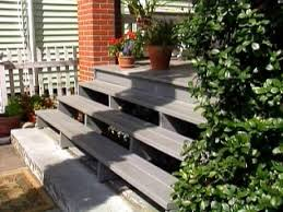 Outdoor Steps Replace Wooden Porch Steps Hgtv