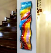 abstract metal wall art large wave