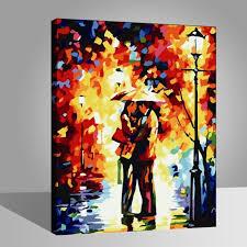 Pluie amour étreinte Peintures-DIY-40x50cm-avoir DIY peinture cadre ...