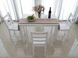 solid wood dining table and 4 chairs dining set white