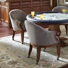 Poker Chairs With Casters  Custom Leather Ivey Collection - Casters for dining room chairs