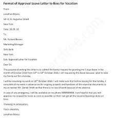 Vacation Request Letter Fit 2 C Competent Accordingly Sample
