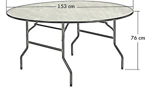 technical drawing 5ft round