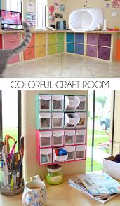 Check out all of this craft room storage in this awesome office makeover.  And it's