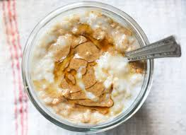overnight steel cut oatmeal with almond
