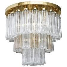 mid century modern limburg glass chandelier flush mount for