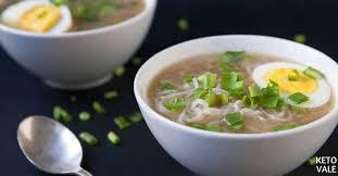 keto beef shirataki noodle soup low