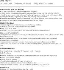 Auto Mechanic Resume Templates Download Auto Mechanic Resume Template For Free Tidytemplates