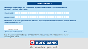 Customers can contact the bank for credit card related services 24 hours on all days including sundays and bank holidays. How Will I Update My Email Id In My Hdfc Credit Card Quora