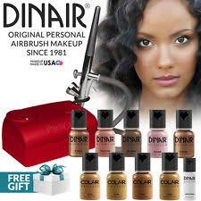 dinair airbrush personal pro makeup kit 10pc make up foundation tan shades