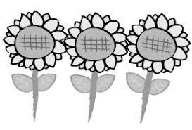 花のかわいい無料イラスト集白黒カラー Web素材 All About