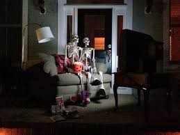 Halloween Front Porch Decorations Movie Night