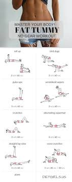 master your body fat tummy no gear workout